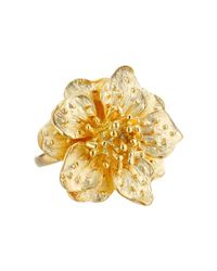 Kenneth Jay Lane | Metallic Flower Ring | Lyst
