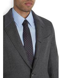 Alexander McQueen Blue Navy And Bronze Polka Dot Silk Tie for men