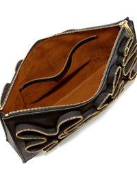 Stella McCartney | Black Cavendish Faux-Napa Zipper Clutch Bag | Lyst