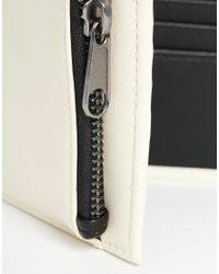 ASOS | Black Wallet In White Faux Leather - White for Men | Lyst