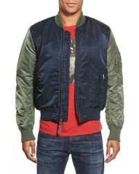 Ben Sherman - Blue 'alpha X Ma-1' Bomber Jacket for Men - Lyst