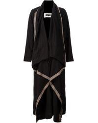 Uma Wang - Black Draped Oversized Coat - Lyst