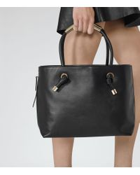 Reiss - Black Hawker Structured Open-top Tote - Lyst