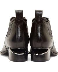 Alexander Wang Black Notched Heel Kori Ankle Boots