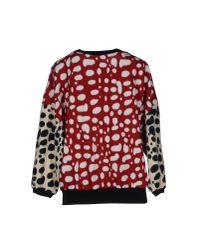 Pinko - Red Sweatshirt - Lyst
