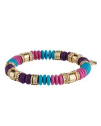 Vera Bradley | Blue Carpe Diem Stretch Bracelet | Lyst