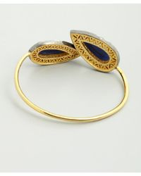 Amrapali | Blue Sapphire And Diamond Teardrop Bangle | Lyst