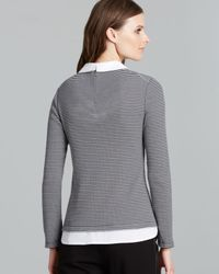Tory Burch Blue Patsy Stripe Sweater