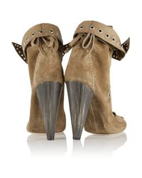 Isabel Marant Natural Suede Ankle Boots