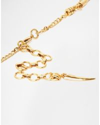Pilgrim Metallic Crystal Shard Collar Necklace