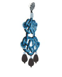 Anna E Alex - Blue and Black Chandelier Deco Earrings - Lyst