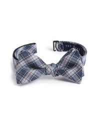 Ted Baker | Blue Plaid Cotton & Silk Bow Tie for Men | Lyst