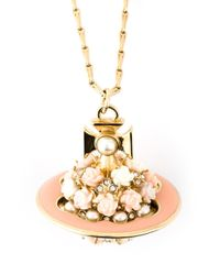 Vivienne Westwood Metallic 'Rose Orb' Necklace