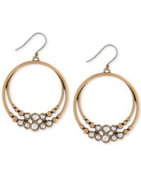 Lucky Brand | Metallic Two-tone Double Hoop Earrings | Lyst
