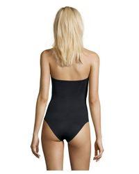 Vitamin A - Blue Navy Stella Stripe 'natalie' Bandeau One-piece Swimsuit - Lyst