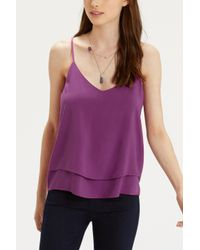Oasis Purple Double Layer Cami