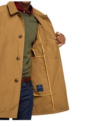 Brooks Brothers - Yellow Raglan Car Coat for Men - Lyst