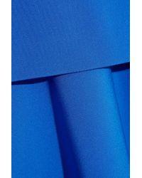 DKNY Blue Color-block Crepe Dress