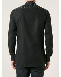 Neil Barrett Black Polka Dot Shirt for men