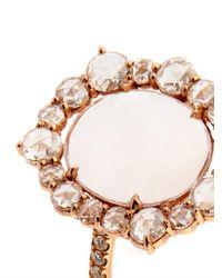 Susan Foster | Metallic Diamond, Morganite And Rose-Gold Ring | Lyst