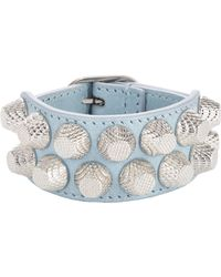 Balenciaga | Blue Arena Two Row Giant Bracelet-Colorless | Lyst