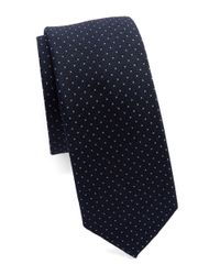 Original Penguin | Blue Silk And Cotton Dotted Tie for Men | Lyst