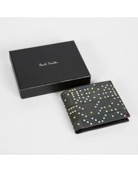 Paul Smith Men's Black Leather 'dominoes' Print Billfold And Coin Wallet for men