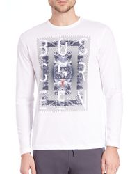 Saks Fifth Avenue - White Togn Logo Tee for Men - Lyst