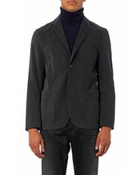 PS by Paul Smith Gray Deconstructed Corduroy Blazer for men