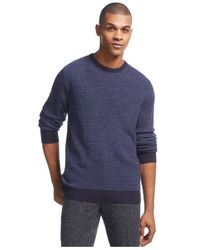 Geoffrey Beene | Blue Birdseye Sweater for Men | Lyst