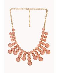 Forever 21 | Pink Bold Bauble Bib Necklace | Lyst