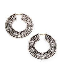 Konstantino | Metallic Classics Sterling Silver Flat Hoop Earrings/1 | Lyst