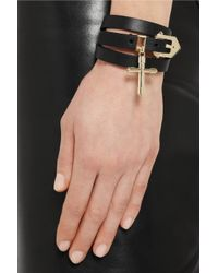 Givenchy | Double Wrap Bracelet in Black Leather | Lyst