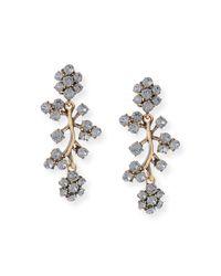 Oscar de la Renta - Black Crystal Branch Drop Clip Earrings - Lyst
