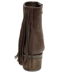 Steven by Steve Madden | Brown Cassidy Fringe Booties | Lyst