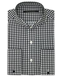 Sean John - Big And Tall Bold Black Gingham French Cuff Shirt for Men - Lyst
