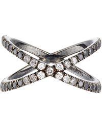 Eva Fehren Metallic Ombre Shorty Ring