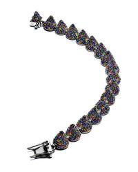 Eddie Borgo - Multicolor Pave Crystal Cone Small Bracelet - Lyst