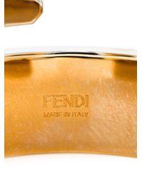 Fendi - Metallic 'baguette' Cuff - Lyst