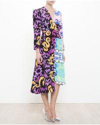 Tata Naka Pink Printed Silk Dress