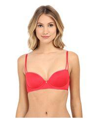 Natori Red Bare Touch T-Shirt Demi Bra 733079