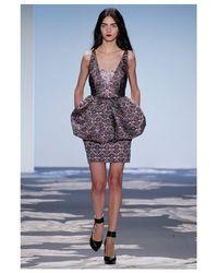 Vera Wang | Pink Flower Mini Skirt | Lyst