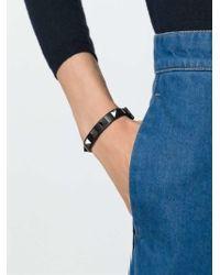 Valentino | Black 'Rockstud' Bracelet | Lyst