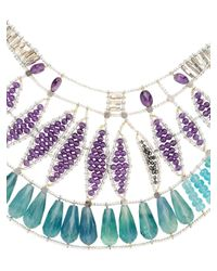 Ziio - Blue Jungle Necklace - Lyst