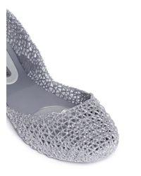 Melissa | Metallic X Campana 'Papel' Glitter Flats | Lyst
