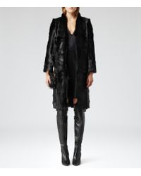 Reiss Black Rib Knit Over The Knee Boots