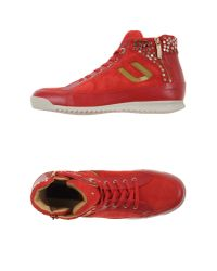 Cesare Paciotti Red High-tops & Trainers