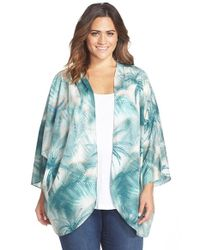 CJ by Cookie Johnson | Green Palm Tree Print Kimono | Lyst