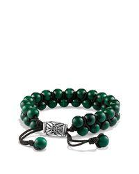 David Yurman - Green Spiritual Beads Two-row Bracelet With Malachite for Men - Lyst