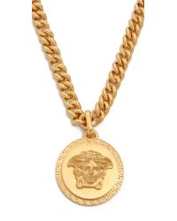 Versace Metallic Medusa Pendant Necklace for men
